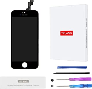 YPLANG Screen Replacement Compatible for iPhone SE 5S Screen Replacement Black LCD Display Digitizer Frame Assembly Full Repair Kit, with Repair Tools and Flowchart (for iPhone SE/5S-Black)