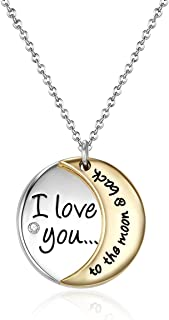 MESTIGE to The Moon and Back Necklace with Crystals from Swarovski®, Gift, Love