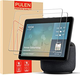 [3 Pack] PULEN for Echo Show 10 Screen Protector (3rd Gen),9H Hardness HD Clear Anti-Scratch Bubble-Free Easy Instalaltion