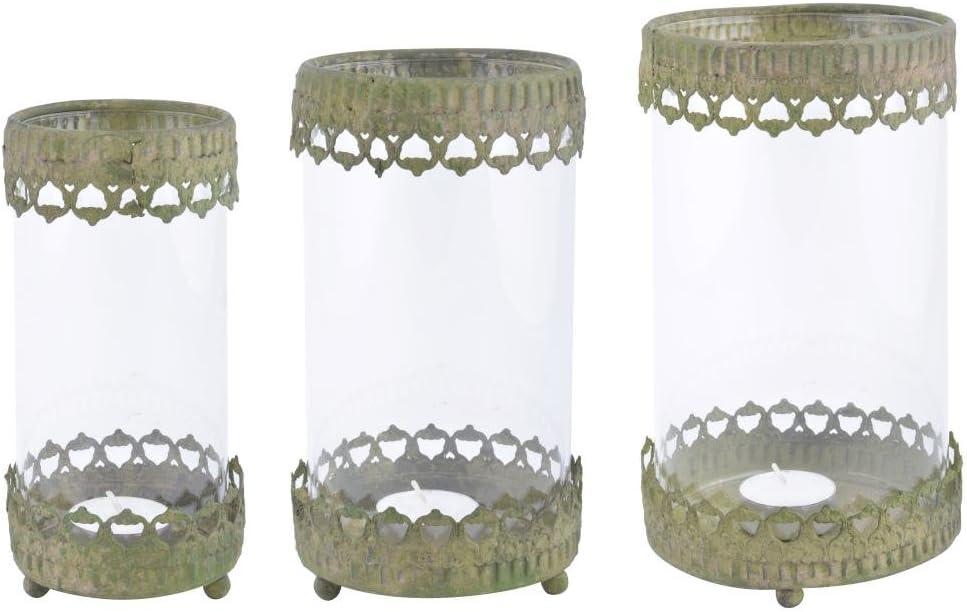 Esschert Design AM88 Aged Special price Metal Green 3 Set Wind Light Overseas parallel import regular item of