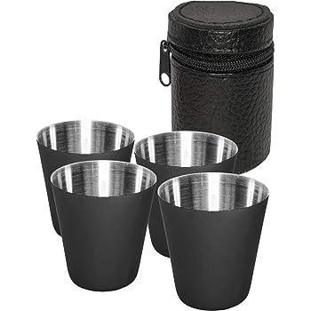 Edelstahl Pint Tassen Wiederverwendbare Metall Becher Stapelbare Trink Gläser