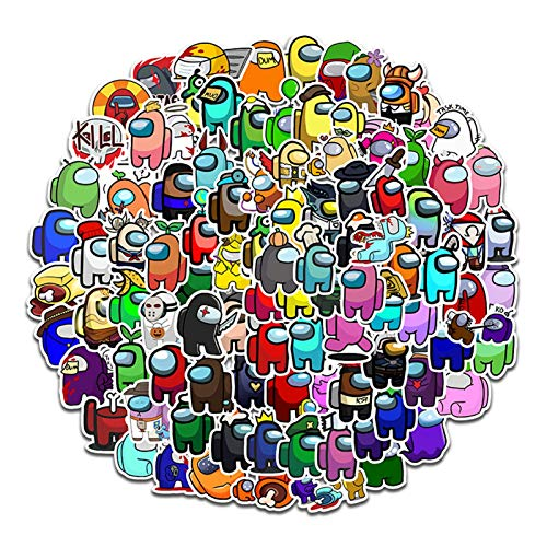 Suppemie 100 pieces of Among Us sticker scribble sticker vinyl sticker suitcase sticker very decorative water bottles, laptops, suitcases etc.