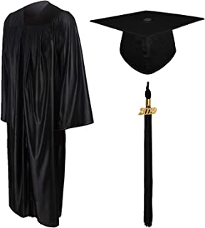GraduationMall Shiny Graduation Gown Cap Tassel Set 2019 for High School