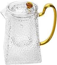 Szklany dzban karafka z pokrywką dzbanek do herbaty na wodę do gorącej i zimnej wody karafka na wino kawa mleko i sok kara...