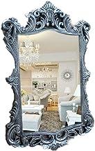 "YUNTAO Simple Bright Mirror Makeup Mirror Wall Mirror Decor, White Vintage Wall Mirror Ornate Frame 16.5"" X 23.2"" Inches B..."