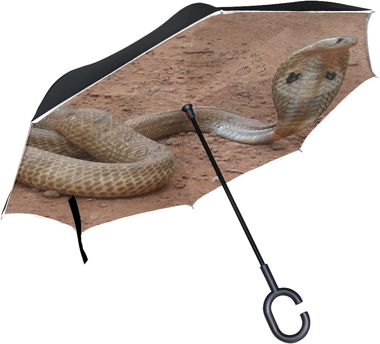 Animal Eagle Serpent Stunning Scary Danger Pet Ingreened Umbrella Large Double Layer Outdoor Rain Sun Car Reversible Umbrella