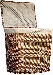 ADSE Panier de Rangement Pliable en Jacinthe d'eau tissé à la Main Classics, Marron (Taille: 38 * 26 * 42cm)