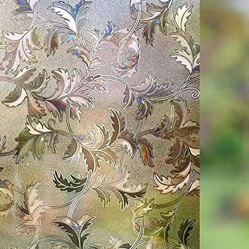 LMKJ Statisk icke-självhäftande fönsterklistermärken, hushållsopake privat återanvändbar dekorativ glasfilm A92 60 x 200 cm