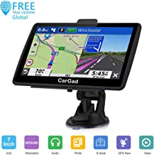 Car GPS,7 inch Car GPS Navigation Turn-by-Turn Direction Reminding Real Voice,GPS Navigation System for Car with Post Code Search Speed Camera Alert,Lifetime Free Update