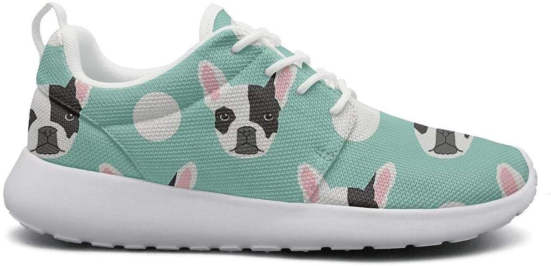 8d821be2e976c Women Cute Lightweight shoes Sneakers French Bulldog Pattern Upper ...