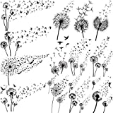 EGMBGM 13 Sheets Beautiful Dandelion Temporary Tattoos For Women Realistic Flying Dandelion Birds Butterfly Fake Tattoos Flowers For Girls Kids Hand Wrist Neck Decoration Temp Tatoos Temporary Sticker