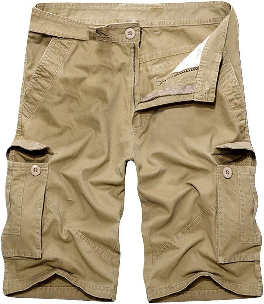 Summer Mens Pant Pure Cotton Multi-Pocket Overalls Fashion Shorts Pant