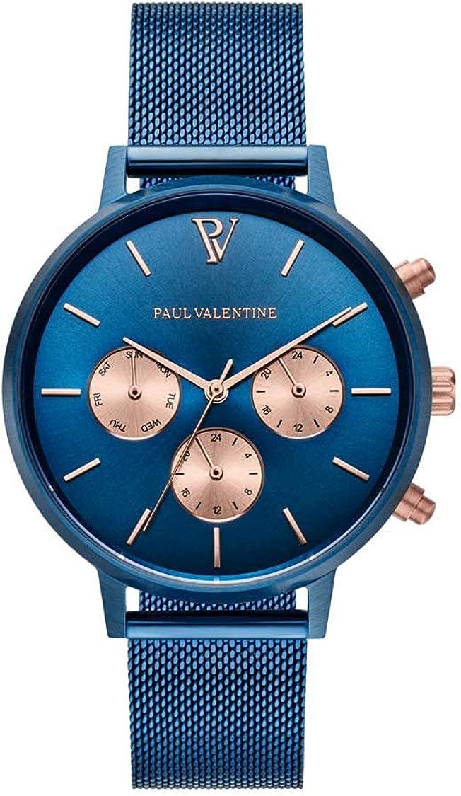 PAUL VALENTINE ® - Caja de Regalo para Reloj de Mujer, Multifuncional con Pulsera Faye, Elegante Pulsera Plateada u Oro Rosa