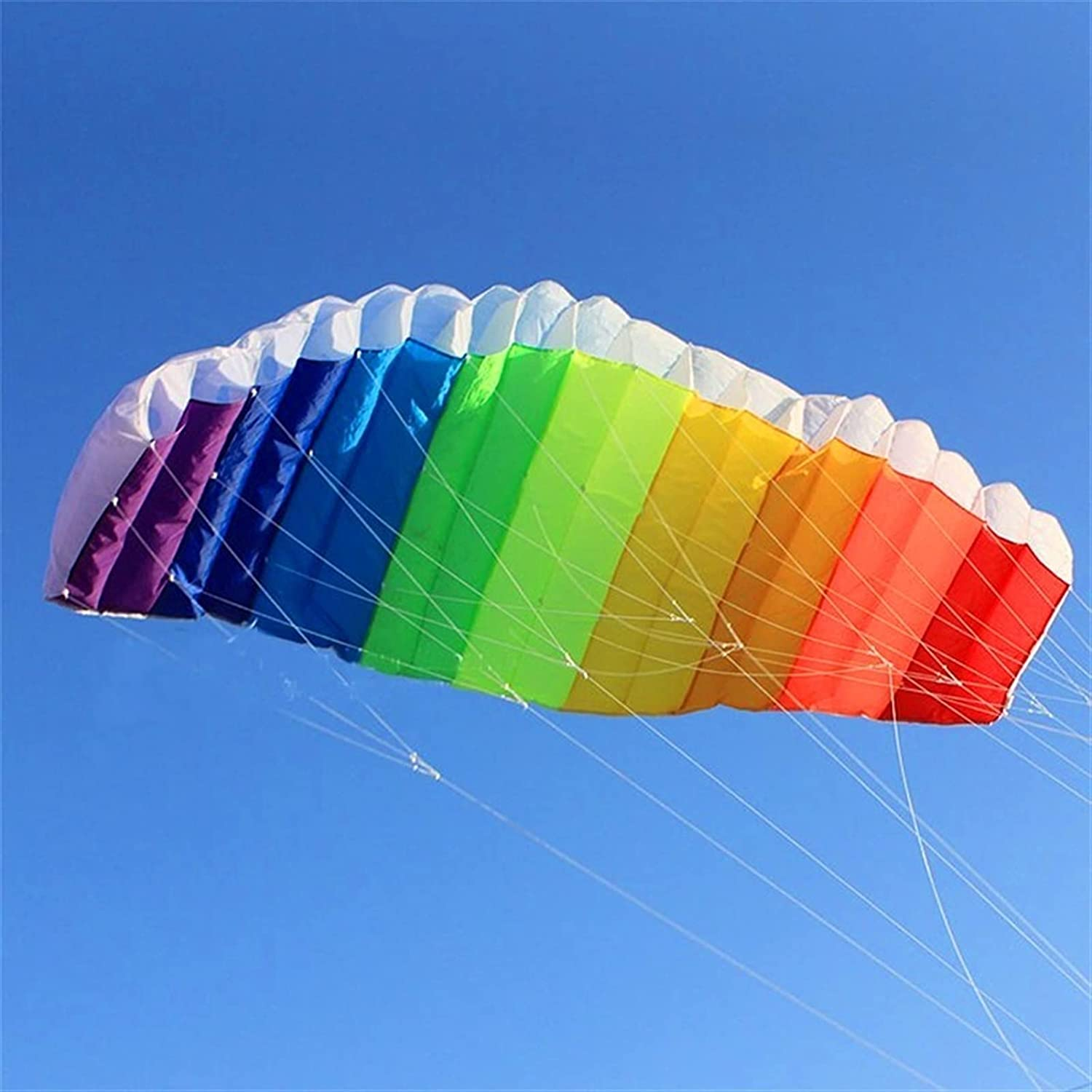 YSJJVDS Kites Dual Super Special SALE held line Large Sports Parafoil Rainbow Mail order Fly