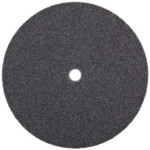 3M Scotch-Brite XL-UW Unitized Silicon Carbide Soft Deburring Wheel - Fine Grade - Arbor Attachment - 6 in Diameter - 1/2 in Center Hole - 1/2 in Thickness - 13719 [PRICE is per WHEEL]
