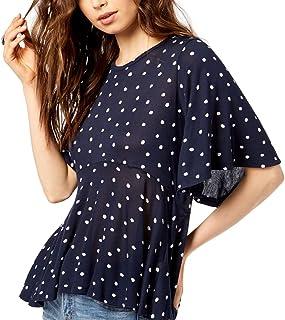 Lucky Brand Women's Printed Flutter Sleeve Top Shirt