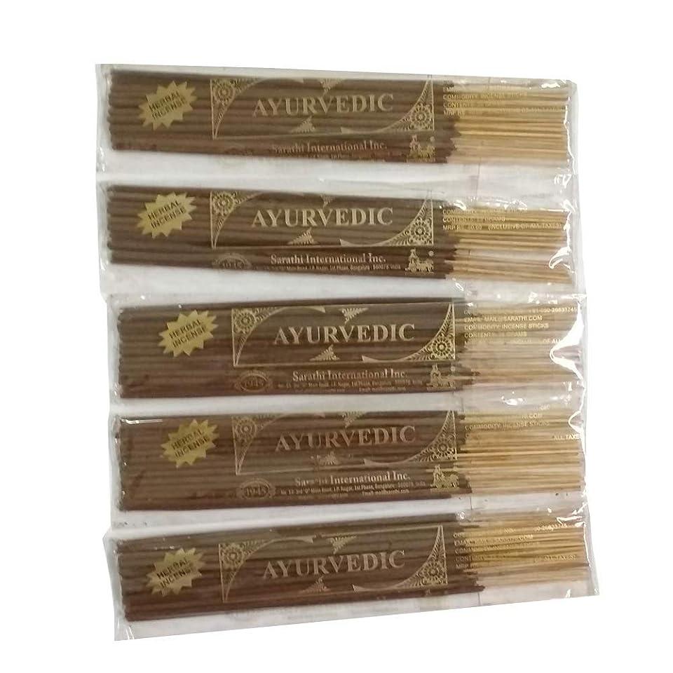 調整可能シャンパン単にBuddha Crafts Ayurvedic Incense Sticks, 125?gms?–?5のセット。。。