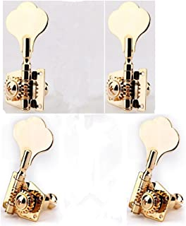 Gusnilo 2+2 Bass Vintage Open Gear Tuner Tuning Keys Pegs Machine Head Right Hand for Jazz P Bass Guitar Parts, Gold