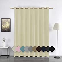 YURIHOME Wide Blackout Curtain for Patio Door,Room Darkening Drapes for Sliding Glass Doors, Inlusated Window Treatments G...