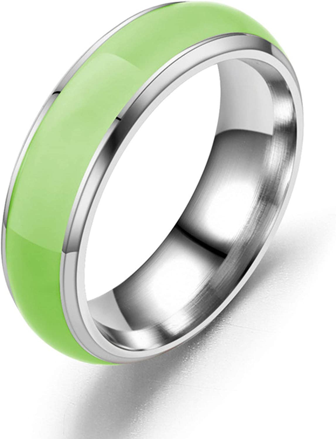 Gsdviyh36 Fashion Ring Simple Fashion Unisex Luminous Solid Color Glowing Ring Jewelry Accessory Show Your Beauty