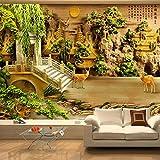 Wandbildtapete,Custom 3D Fototapete Klassische Antike Pavillon Golden Bridge Im Chinesischen Stil Wandmalerei Tv Hintergrund Hd Drucken Wandbilder Wohnzimmer Schlafzimmer Home Decor Wall Papers,1