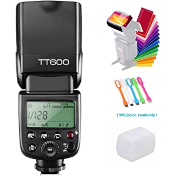 Godox TT600 Camera Flash Speedlite Master Slave GN60 Built-in 2.4G Wireless X System Transmission Compatible for Canon, Nikon, Pentax, Olympus, Fuji and Other DSLR Camera with Standard Hotshoe&USB LED
