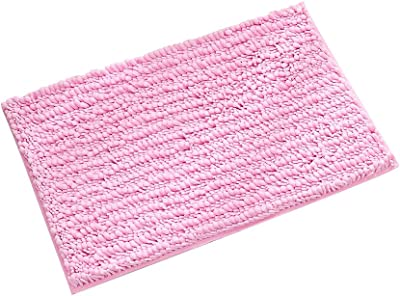 Decdeal Microfiber Bath Rugs, Chenille Floor Mat Carpet, Soft Indoor Washable Bathroom Floor Mat, Anti-Slip Carpet, Machine-Washable, for Dining Room Home Bedroom, 20 x 32 inch