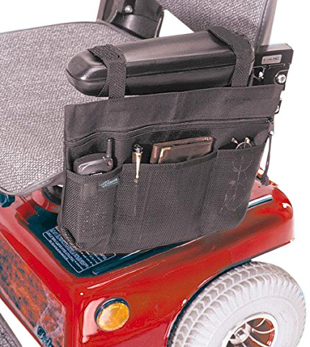 EZ-ACCESS Accessories, Scooter Arm Tote (1.25 lbs), for Wheelchair and Scooter Arms, Secure Easy Pull Zippered Main Pocket and Mesh Pockets Keep Loose Items at Hand and Easy to Reach