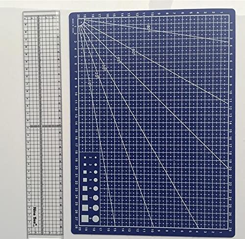 Base Combinación de la regla del patchwork de la estera del corte del tamaño de las ventas del talla de corte A4 Tamaño de la regla 30 cm * 5 cm de la oficina de la escuela de estudiante Papelería