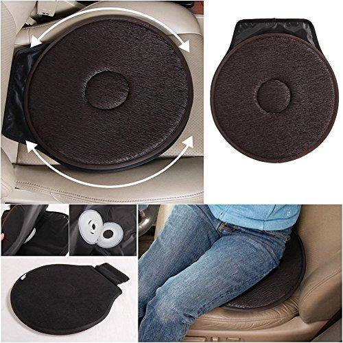 Cojín giratorio para asiento de coche, silla de ayuda a la movilidad, hogar, oficina, etc. Con capacidad antideslizante y espuma viscoelástica, color marrón oscuro