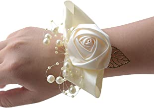 Wrist Corsage, Pack of 2 Wedding Bridal Wrist Flower Corsage Hand Flower Decor for Prom Party Wedding Homecoming (8)
