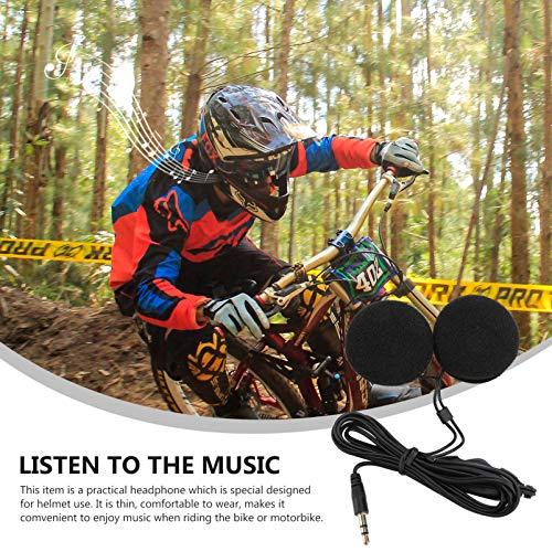 WINOMO 3.5 mm Klinkenstecker Stereo Motorrad Helm Lautsprecher Kopfhörer mit Volume-Steuerung für Handy MP3 GPS (Schwarz) - 7