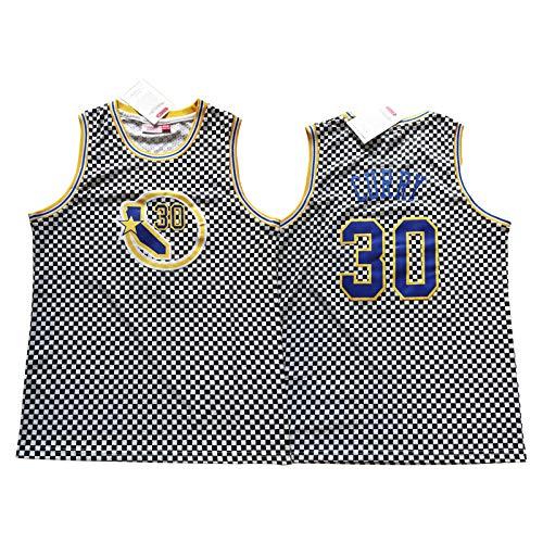 Curry Retro Jersey, Krieger Sleeveless Weste Swingman Training Spiel Trikots 90er Jahre Hip Hop Kleidung Gestickter Pullover T-Shirt (S-XXL) Blue-XL