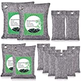 Activated Bamboo Charcoal Bags (12 Pack), Activated Charcoal Bags for Home, Office, Car, Refrigerator, Shoes - Kids and Pets Friendly
