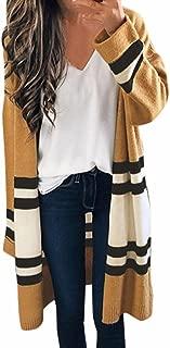 Women Cardigan Coat, Women Long Sleeve Loose Coat Oversized Sweater Coat Striped Tops