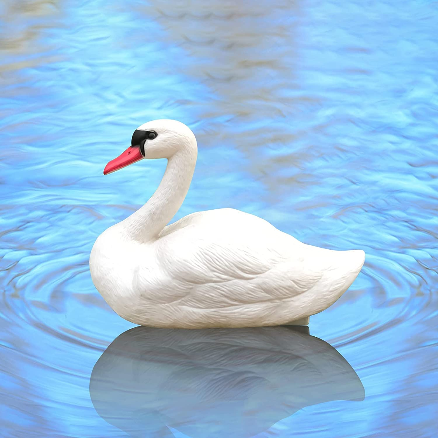 YUNAIYI Outdoor White Swan Ranking integrated 1st place Floating Simulation Max 45% OFF Garden Statue An