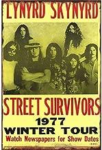 Supvivi 8×12 Lynyrd Skynyrd Street Survivors Iron Sheet Beer Bar Vintage Decoration Sign Metal Rock Roll Wall Sign Funny Retro Plaque Art Crafts Cafe Hanging Artwork Samp Poster Painting