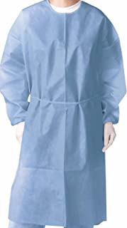 Omni Health Isolation Gown 28g, Spun-Bonded Polypropylene, Blue, 10 Piece/Pack