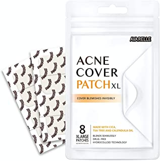 Best Avarelle Acne Pimple Patch (8 Count) Absorbing Hydrocolloid Spot Treatment with Tea Tree Oil, Calendula Oil and Cica, Vegan, Cruelty Free Certified (XL Square / 8 PATCHES) Review
