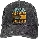 Gorras Gorras de Hombre Sombrero Mujer Anciano Guitarra Gorra de béisbol Ajustable Sombrero de Vaquero Gorra de béisbol Deportes al Aire Libre Color Negro Regalos del Dia de la Madre
