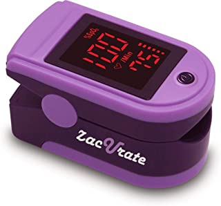 Zacurate Portable and Reliable Fingertip Pulse Oximeter, Accurate Heart Rate Monitor with Lanyard and Batteries Included (...