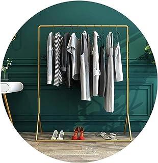 FEIFEI ハンガーラック 3つのサイズ - ゴールドコートラックフロアスタンディングのベッドルーム服は、耐荷重80キロの大容量ラック (Size : 80×40×150cm)