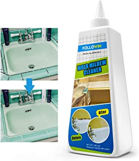 FOLLOWIN Mold & Mildew Remover Gel Miracle Household Cleaner Caulk Wall Tiles Grout Sealant Bathroom Shower Mold Stain Cleaner -16Oz