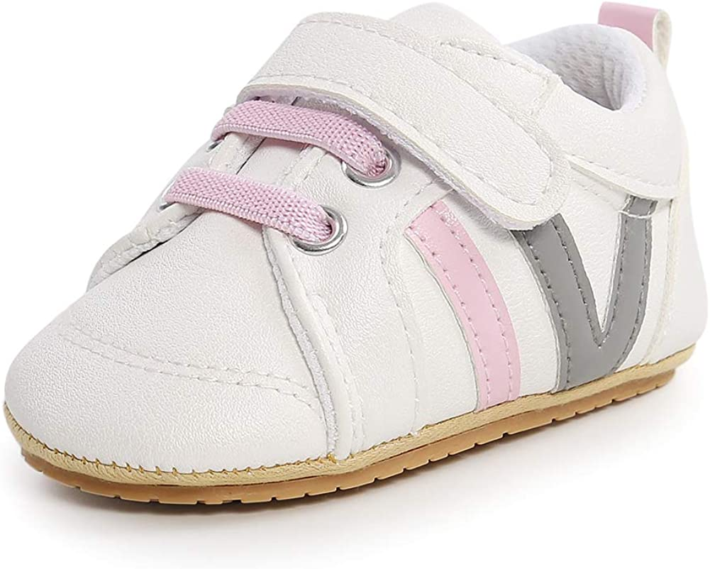Baby Cute PU Leather Sneakers Soft Anti Skid Soles Infant Toddler First Walkers Oxford Shoes