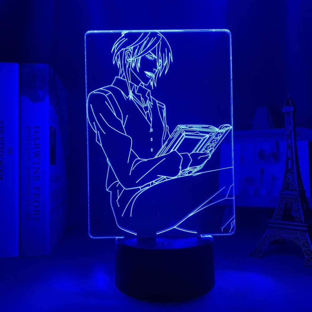 Animación psicología sexual pase luz de noche 3d luz LED conversión de 7 colores control remoto táctil USB decoración de dormitorio regalo de cumpleaños de Navidad para el día de los niños