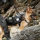 OneTigris Tactical Dog Molle Vest Harness Training Dog Vest with Detachable Pouches (Black, Medium)