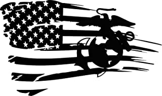 Distressed Flag Marine Corps Oorah Semper Fi Jeep JL JKU JK Window Decal Sticker