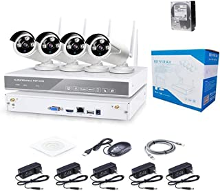 1TB HDD installed 4CH 1080P/2.0MP HD IP network Wifi NVR KIT Wireless IP Camera System P2P 4Pcs Outdoor IR Night Vision