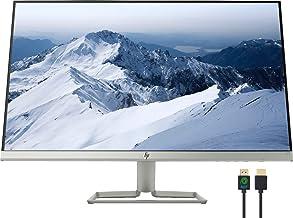 "HP 27f 27"" Full HD 1080p IPS LED Ultra-Slim Monitor, AMD FreeSync, HDMI & VGA Ports, Natural Silver, Nly 4K HDMI Cable Bundle"