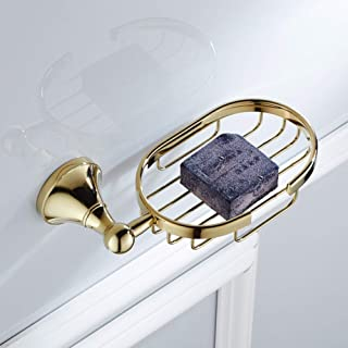 Elegant soap Box Ware Brass Pendant Gold Plated Soap Net Soap Net Basket Soap Bracket